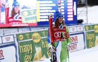Ilka Stuhec se estrena en el podio ganando el Descenso de Lake Louise