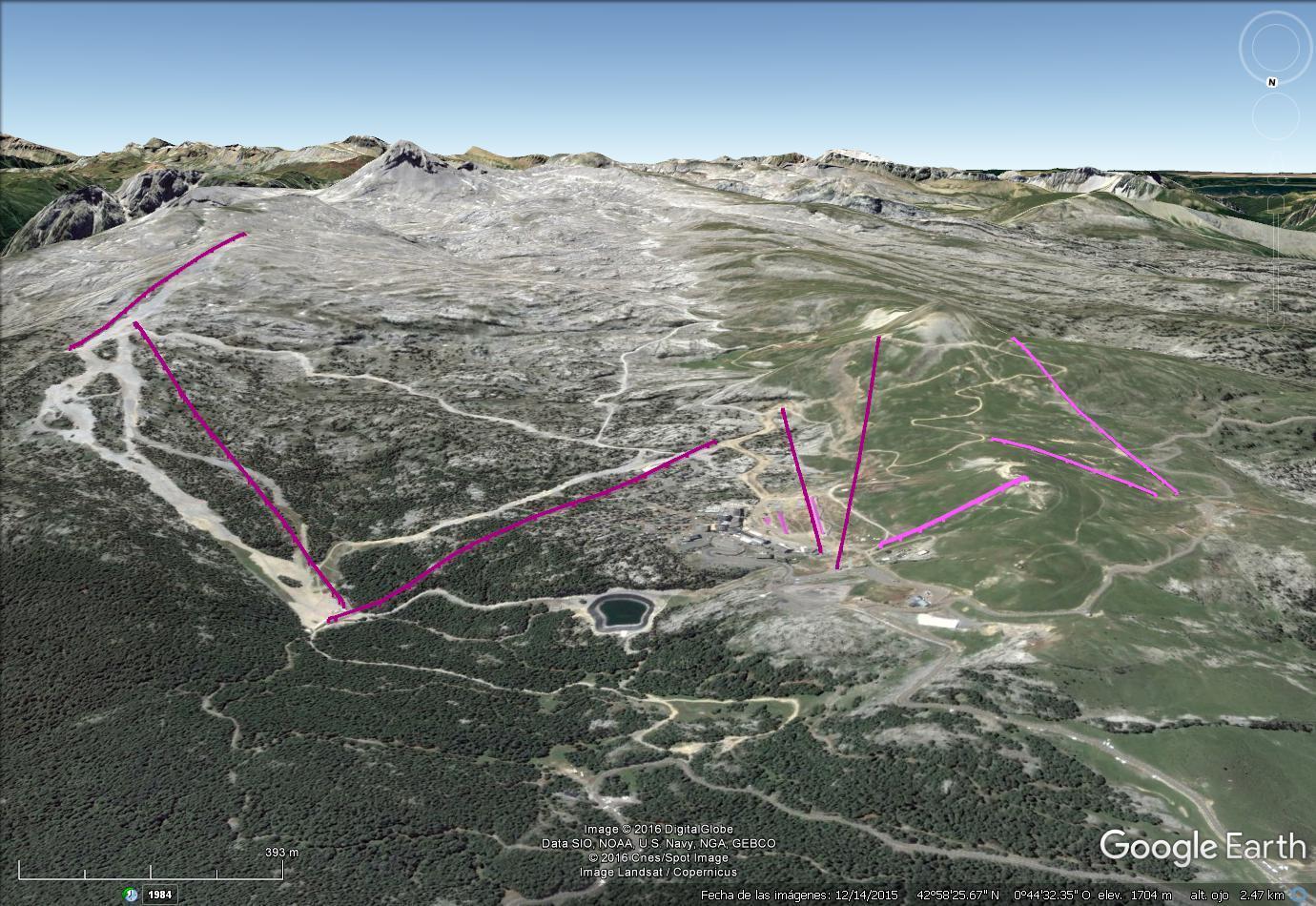 Vistas Google Earth La Pierre Saint Martín 2016-17
