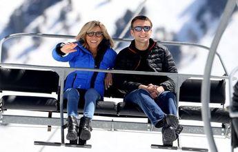 Grand Tourmalet decora el telesilla de Brigitte y Emmanuel Macron