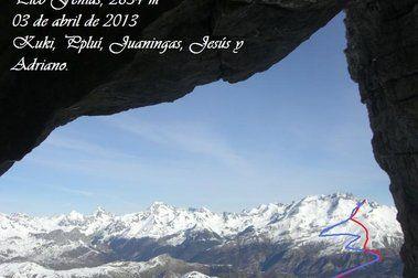 Pico Fenías con esquis, Valle de Tena (2.834 m, Pirineo Oscense)
