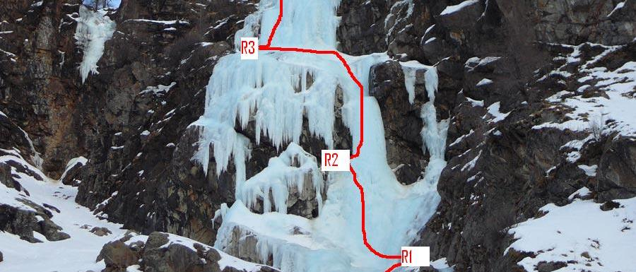 Val di Cogne - Mystiria: 100m, III, 4+/5