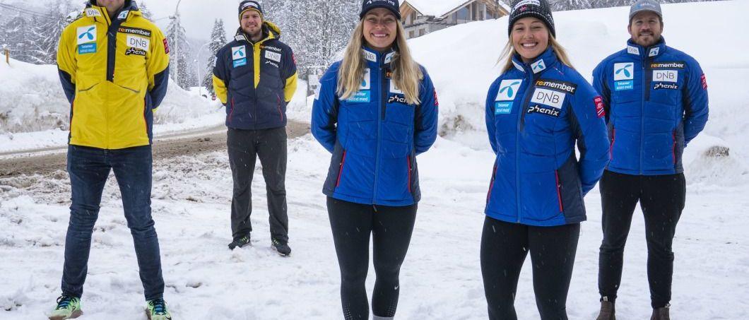 Selección Oficial de esquí alpino de Noruega para la temporada 2021-2022