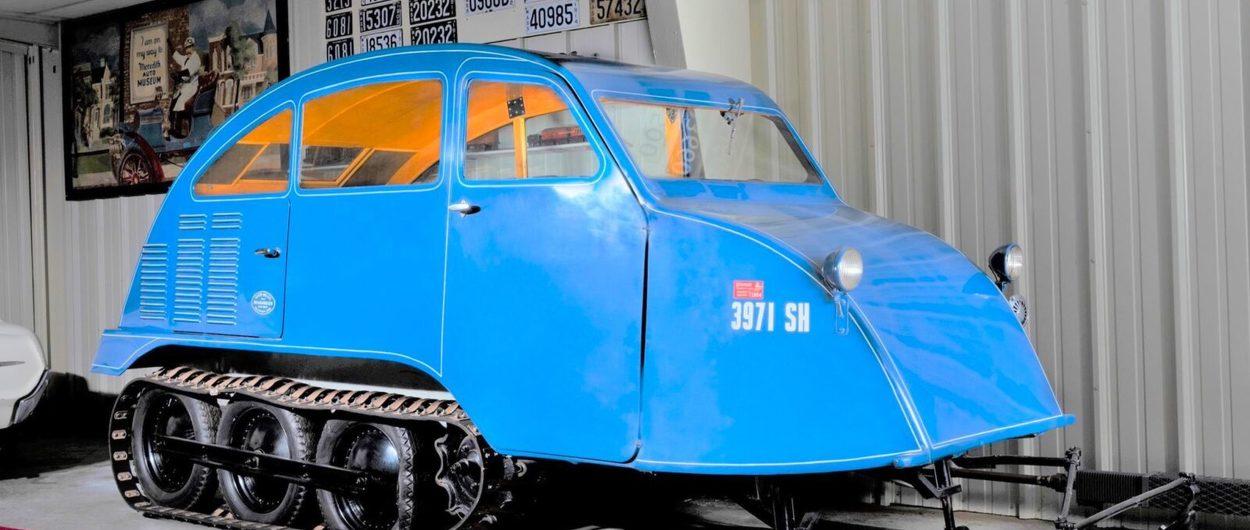 Sale a subasta el primer modelo de vehículo para la nieve que lanzó Bombardier