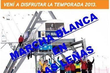 """El domingo, """"Marcha Blanca"""" (medios free) en Las Leñas"""