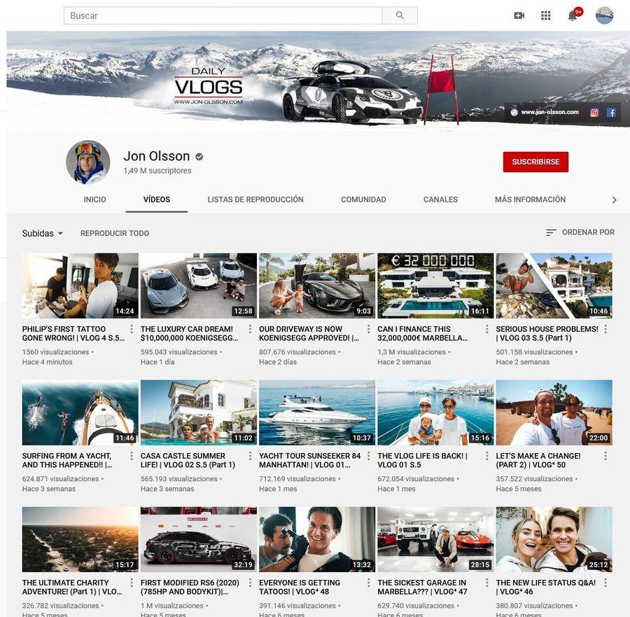 Vlog Youtube Jon Olsson