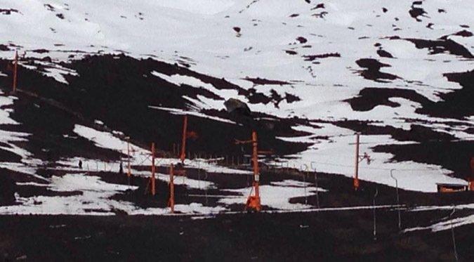 Volcán Antuco cierra por falta de nieve
