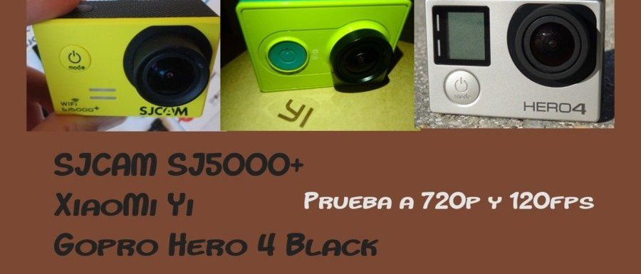 Cuadro por cuadro. Cámaras lentas en SJ5000+, Yi y Hero4