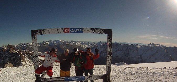 Algunos asistentes al último skicamp en Sölden