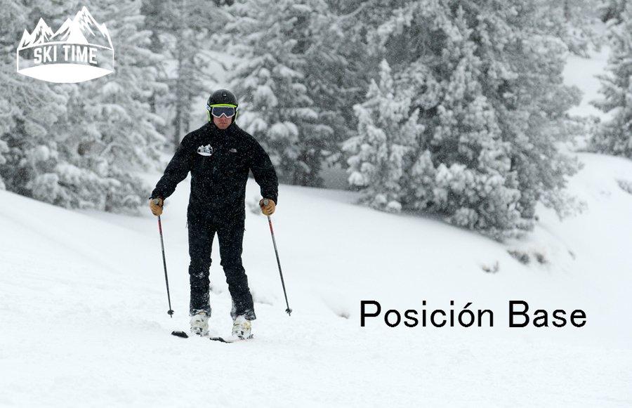 Posición base- técnica del esqui alpino