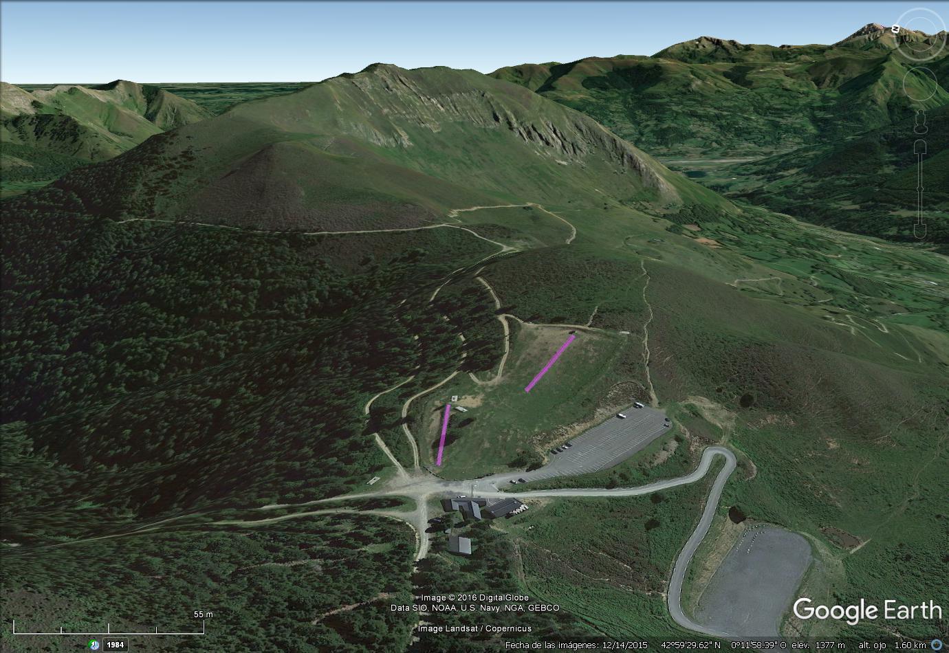 Vistas Google Earth Val d'Azun 2016-17