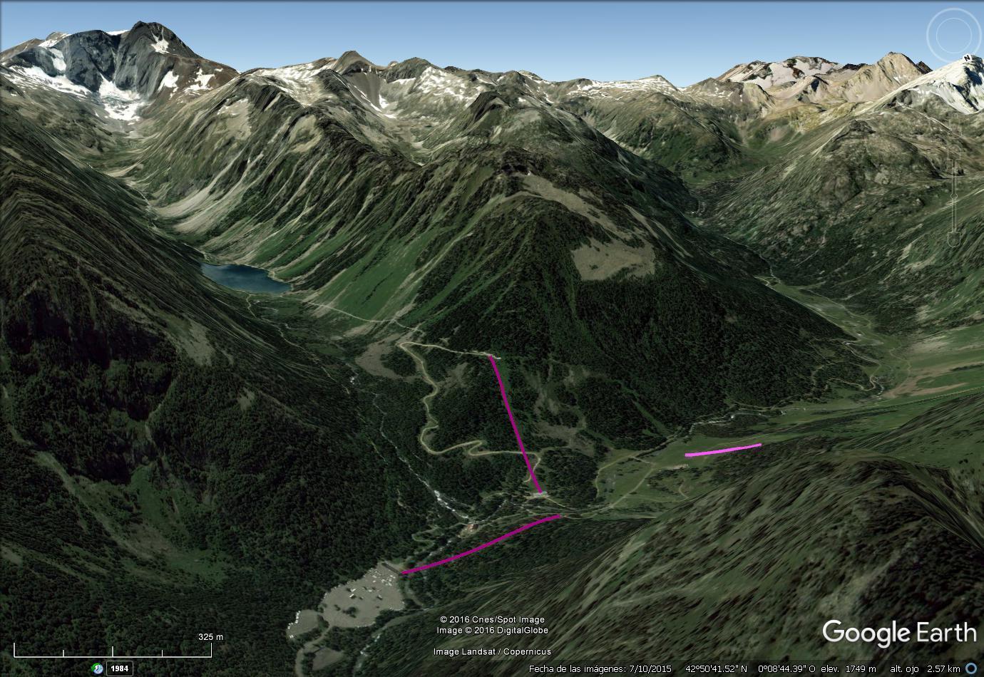 Vistas Google Earth Cauterets -Pont d' Espagne- 2016-17