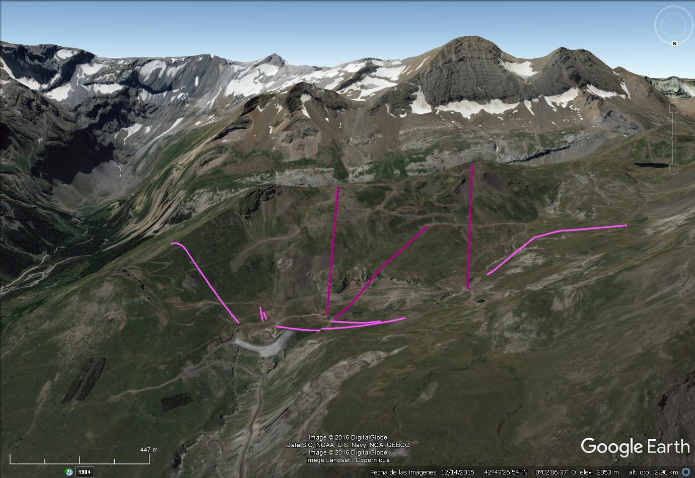 Vistas Google Earth Gavarnie 2016-17