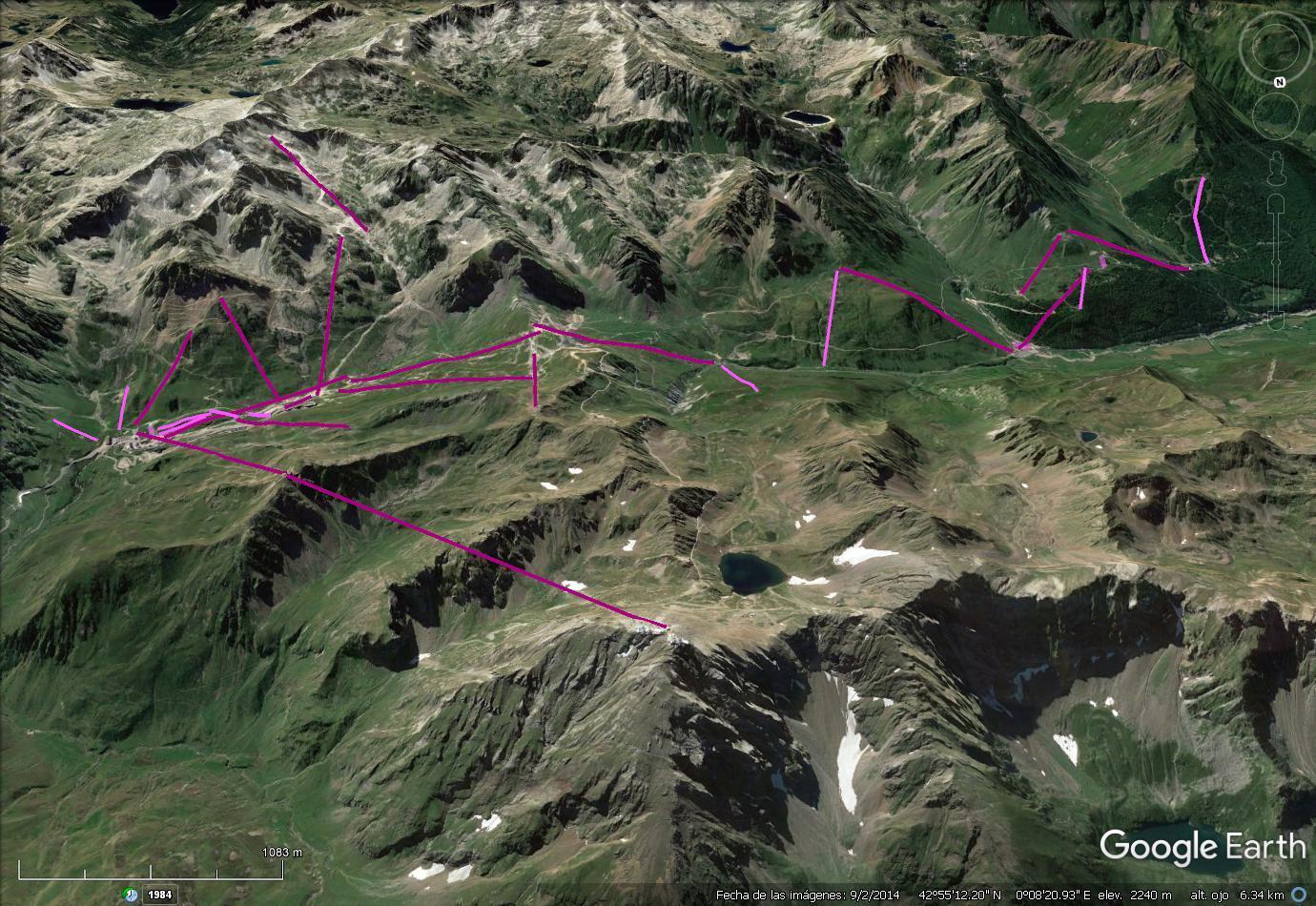 Vistas Google Earth Grand Tourmalet 2016-17
