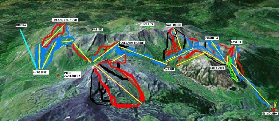 Mapa plano de la ampliación de cerler