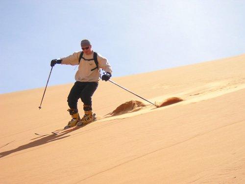 Esquiando en Marruecos, en nieve y en dunas