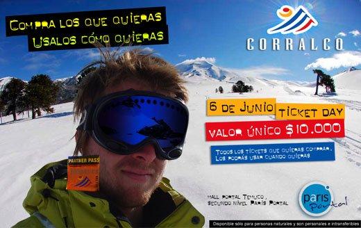 Corralco y Las Araucarias Realizan Venta Anticipada de Tickets