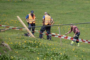 Un muerto y seis heridos en Titlis cuando tensaban el cable de un telecabina
