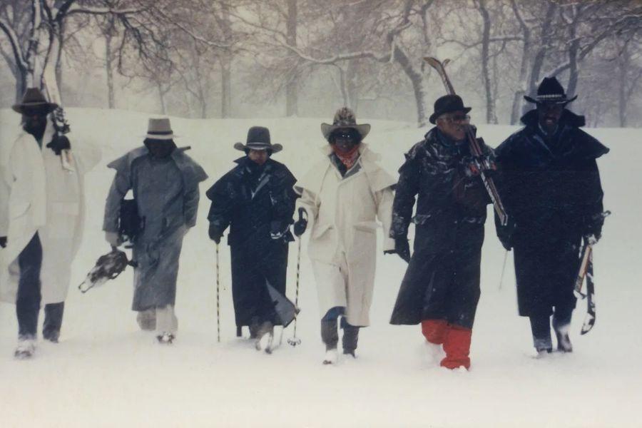esquiadores negros