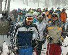 Concorrida Marcha Branca em Nevados de Chillán