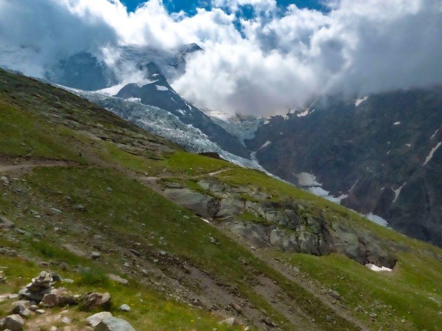 Glaciar de Bionnassayvisto desde el Nido del Águila