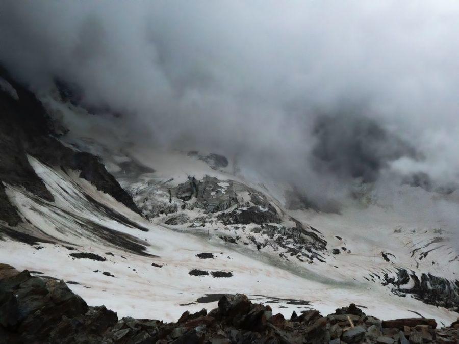 Glaciar de Bionnassay visto desde el refugio Tete Rousse