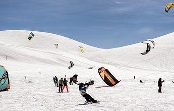 "El Snowkite Fest se ""tomó""  Corralco"