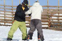 Programa especial de Snowboard para ciegos en El Colorado