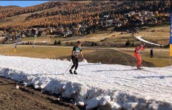 El grupo de esquí de fondo del CETDI-Aragón se entrena en Livigno