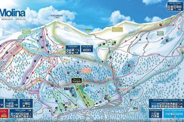 Nuevo plano de pistas de La Molina y cambio de nombre para el telecabina Alp 2500