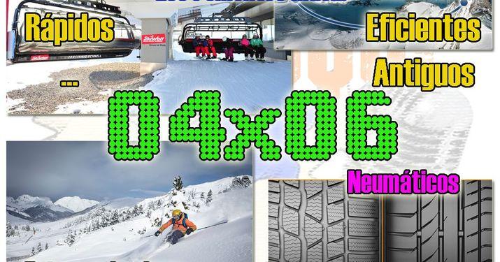"""04x06 Fotos esquiando, neumáticos para la nieve, los remontes """"más""""..."""