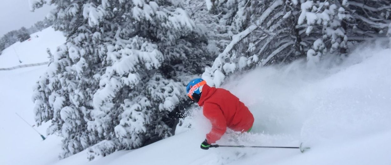 ¿que no es bonito esquiar?