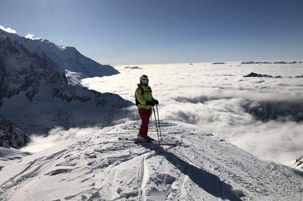 Esquiando a los pies franceses del Mont Blanc. Reportaje