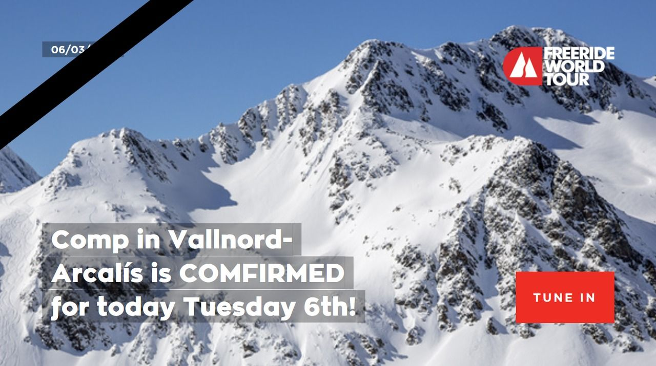 Sigue en directo el FWT de Vallnord Ordino-Arcalís