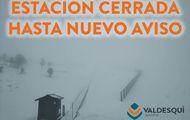 Valdesquí cierra también temporalmente sus pistas de esquí