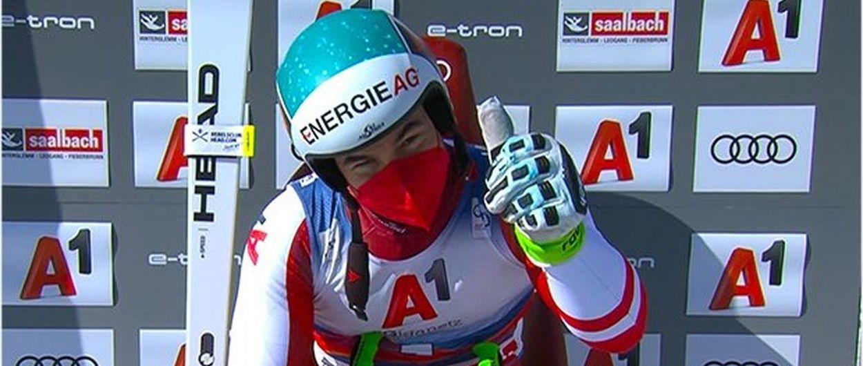 Vincent Kriechmayr gana el Descenso de esquí alpino en Saalbach