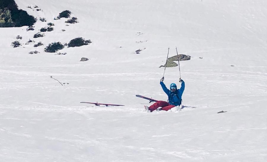 Caída de esquí