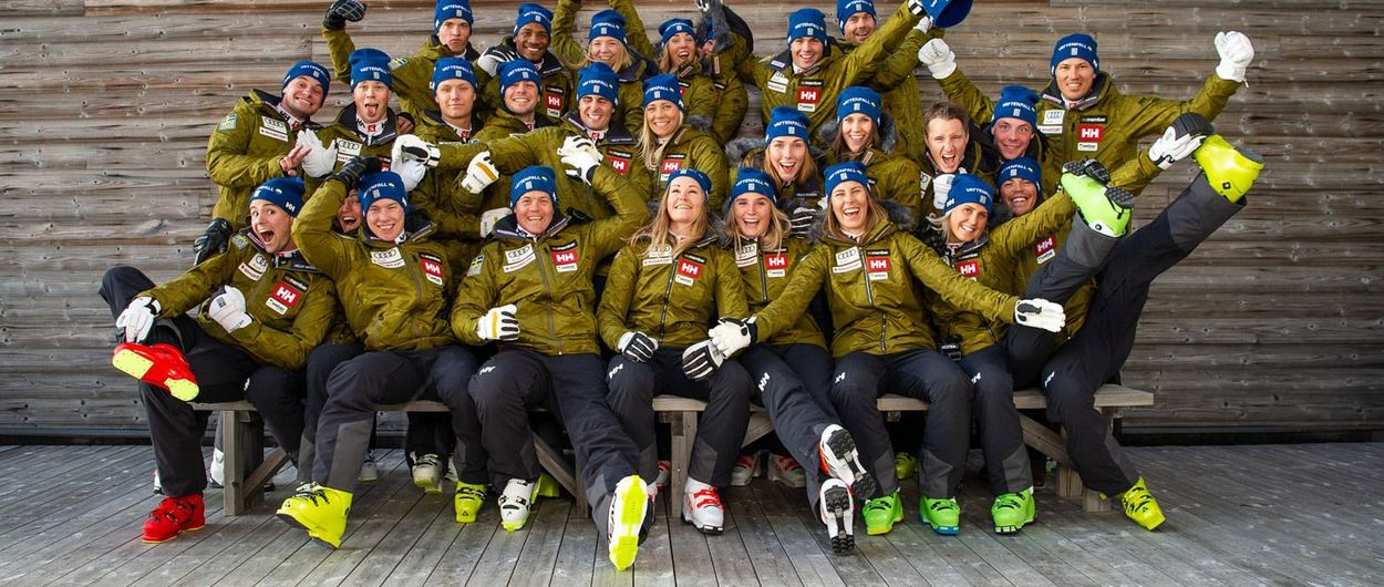 Selección Oficial de esquí alpino de Suecia para la temporada 2021-2022