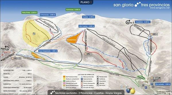 Plano de pistas de San Glorio