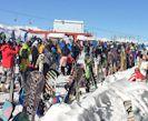 Largas filas para esquiar en El Colorado