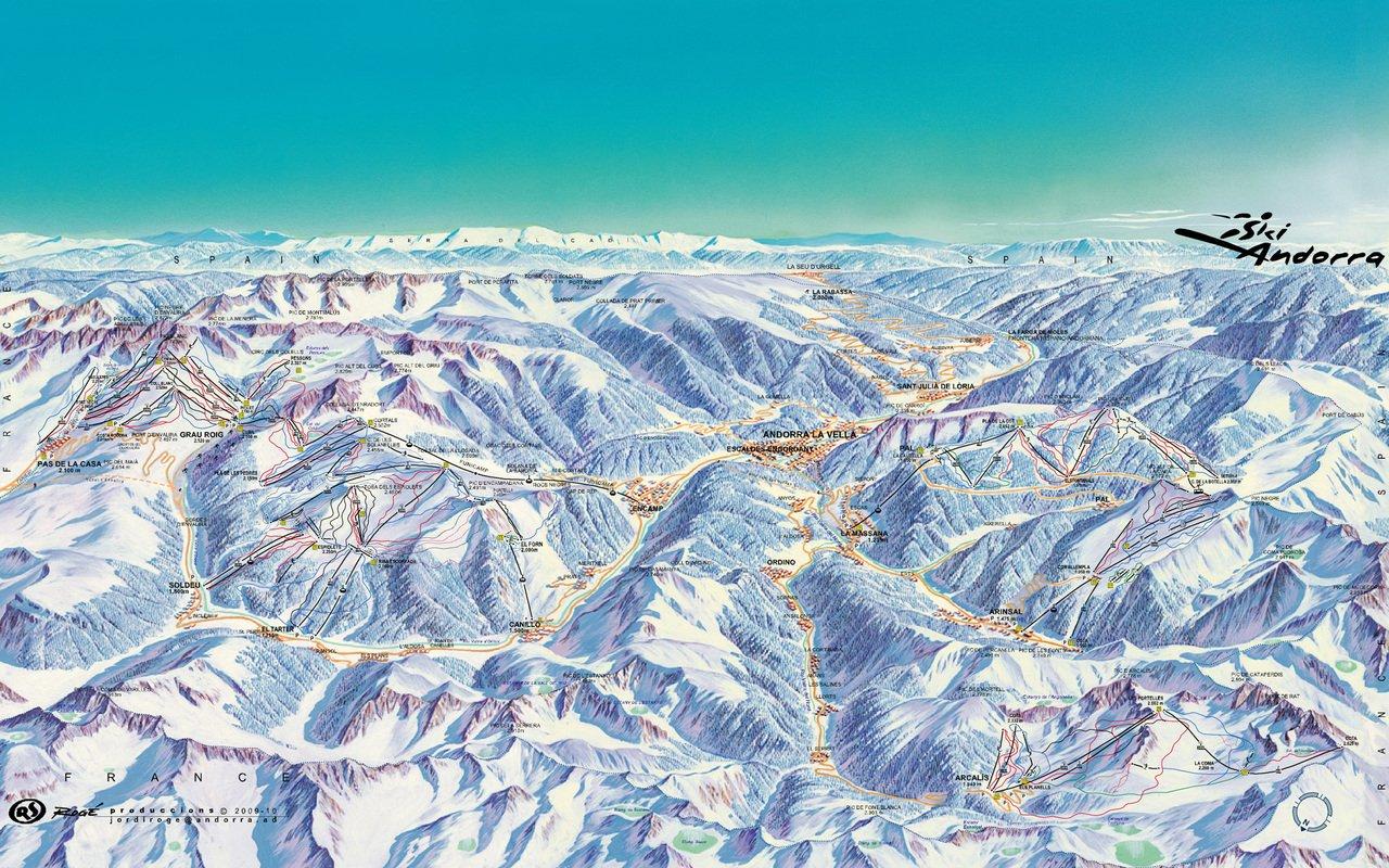mapa pistas Andorra