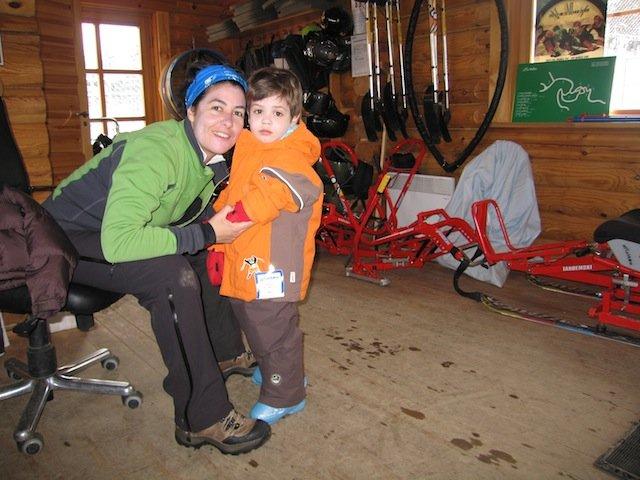Fotografía de Dídac con su madre Sara