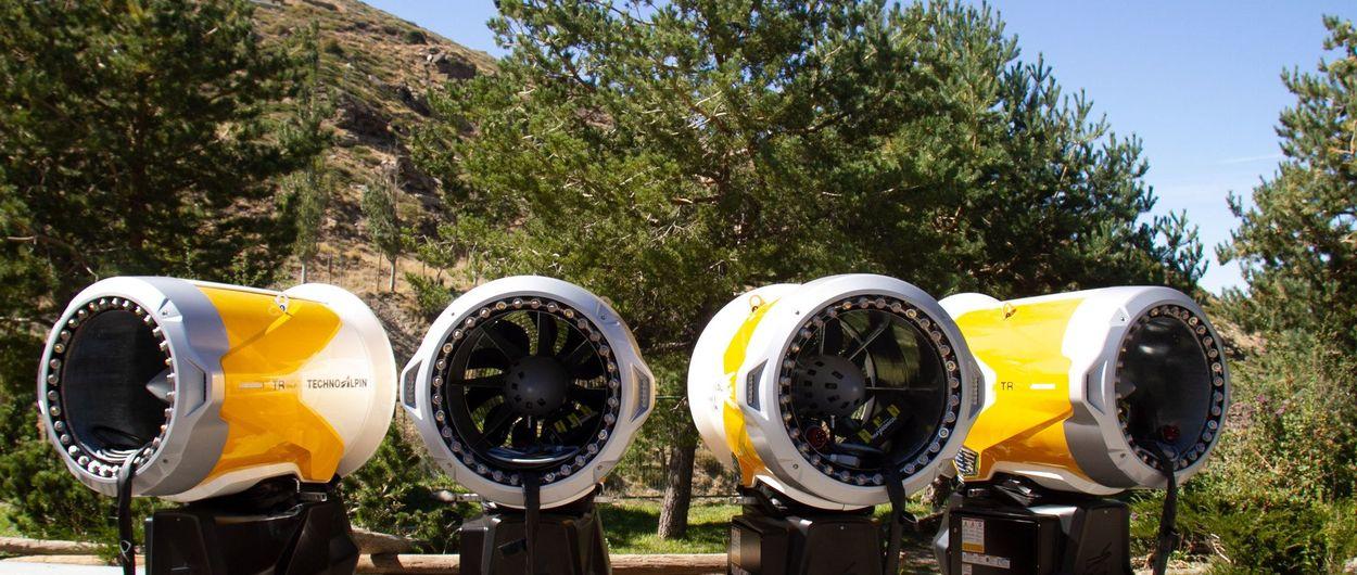 Sierra Nevada instala 77 nuevos cañones para la próxima temporada de esquí