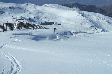 Primera esquiada de la temporada