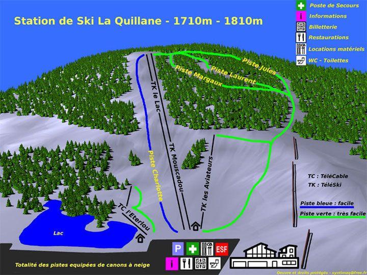 Plano de pistas de La Quillane
