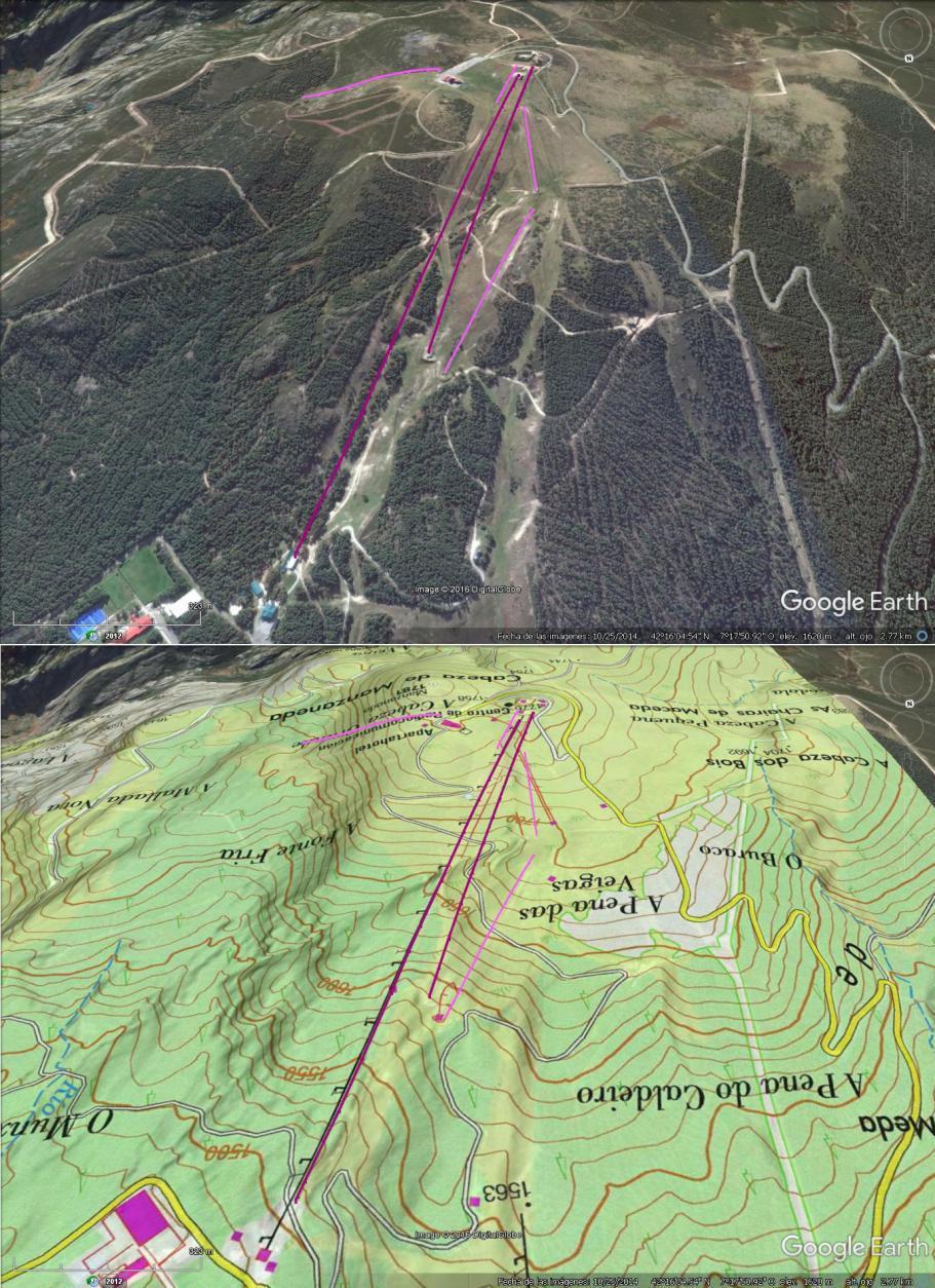 Vistas Google Earth Manzaneda 2016-17