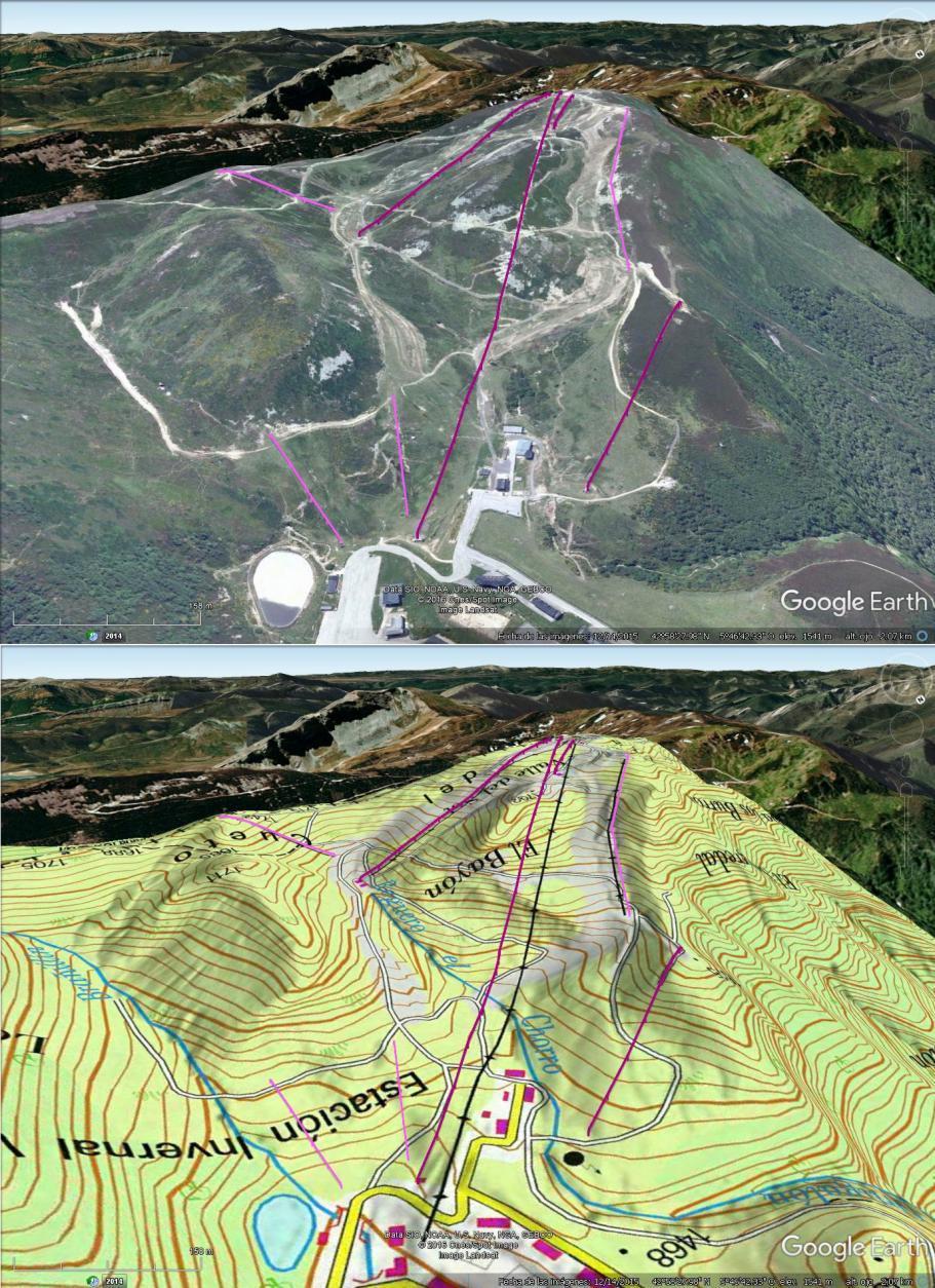 Vistas Google Earth Valgrande Pajares 2016-17