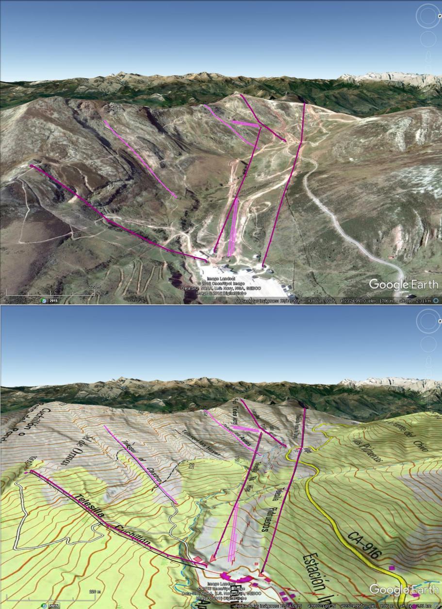 Vistas Google Earth Alto Campoo 2016-17