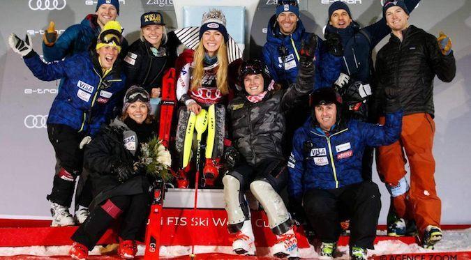 Mikaela Shiffrin gana en Zagreb y logra otro par de récords