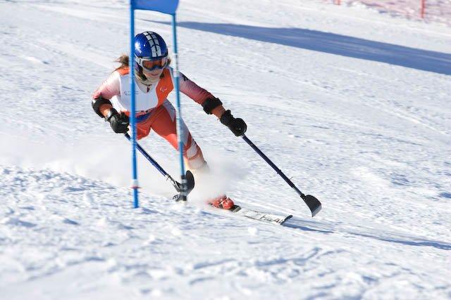 Fotografía de Ursula Pueyo en un Slalom
