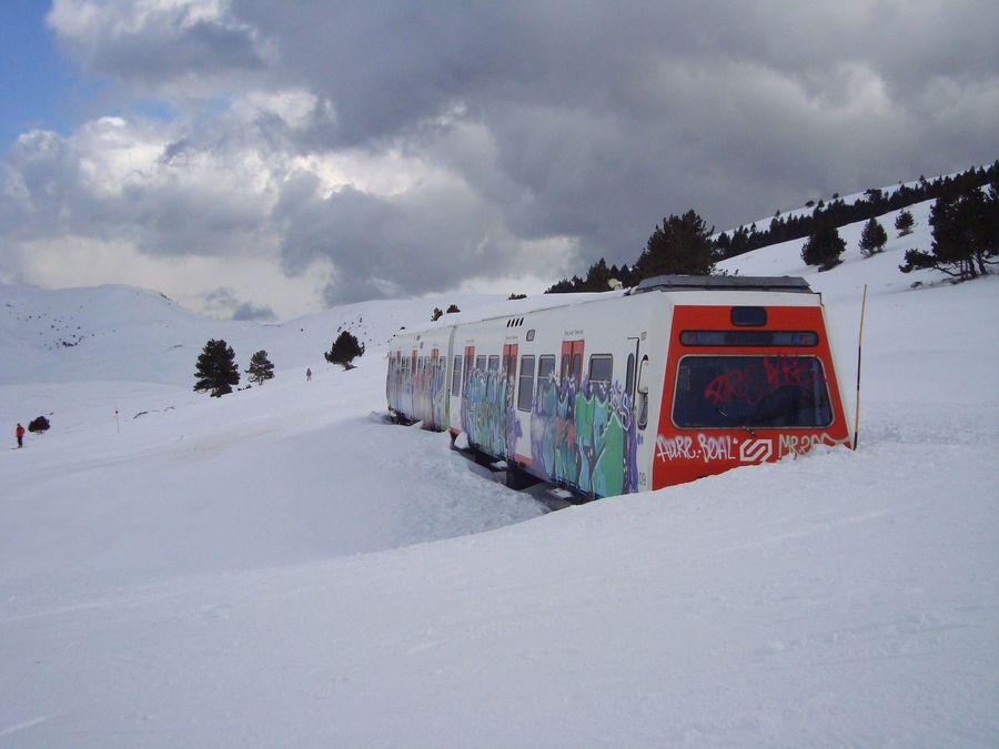 Vagons de tren FGC en Alabaus